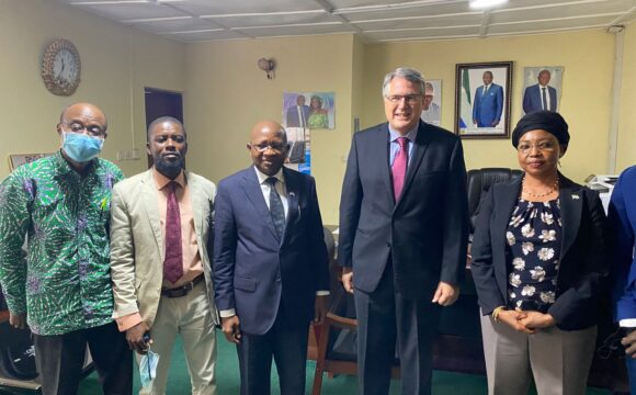 United States Ambassador Lauded Sierra Leone for Millennium Challenge Corporation (MCC) Compact at Water Resources Ministry.